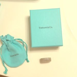 Tiffany and Co. Mesh silver ring size 7